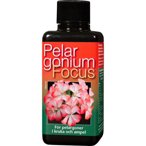 Pelargonnäring - Pelargonium Focus, 100 ml -Näring för pelargoner
