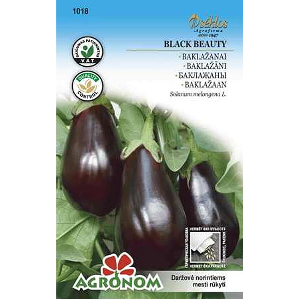 Frö till aubergine 'Black Beauty'