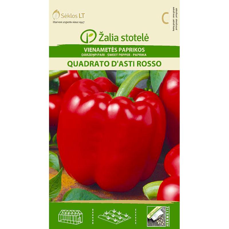 Fröer till Paprika 'Quadrato d'Asti Rosso'