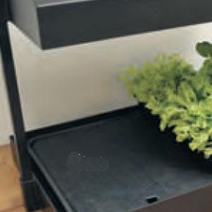 Bevattningsbricka med vattenreservoir-Underbevattningsbricka för frösådd och odling