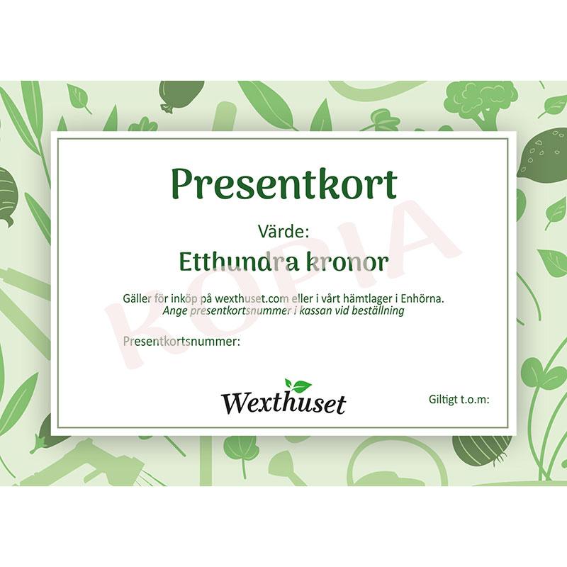 Presentkort via E-post 100kr