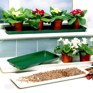 Bricka till fönsterbrädan - stor-Underbevattningsbricka för fönsterbrädan