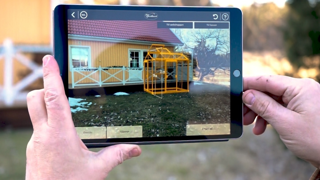 Växthus app i 3d augmented reality