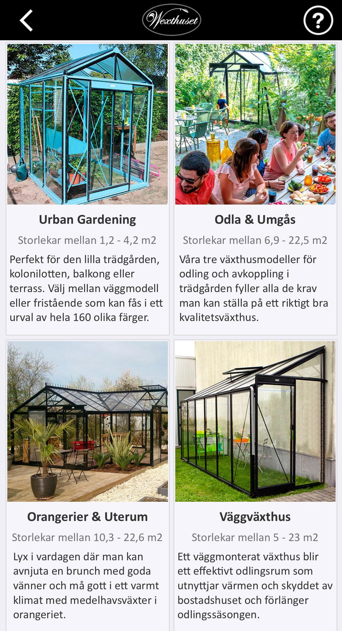 Exempel på utseende i växthusappen med Augumented Reality