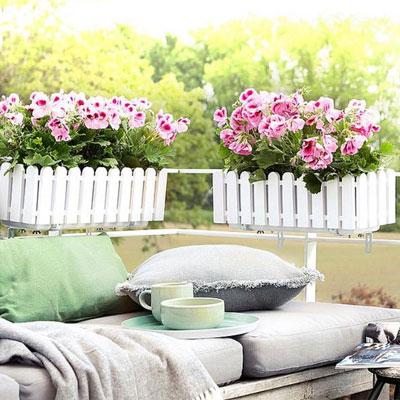 Krukor & blomlådor för balkong