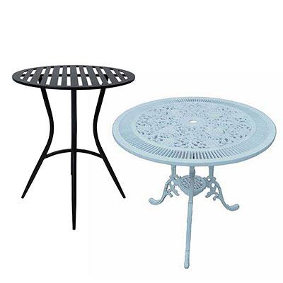 Trädgårdsbord och cafébord