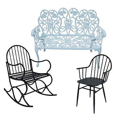 Trädgårdsstolar, caféstol och sittmöbler