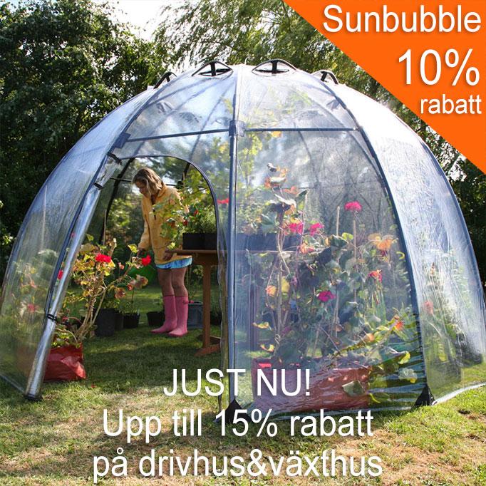Erbjudande på drivhus och växthus. upp till 15% rabatt