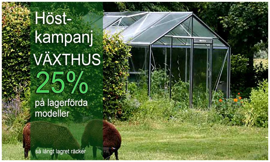 Höstkampanj med specialpris på växthus