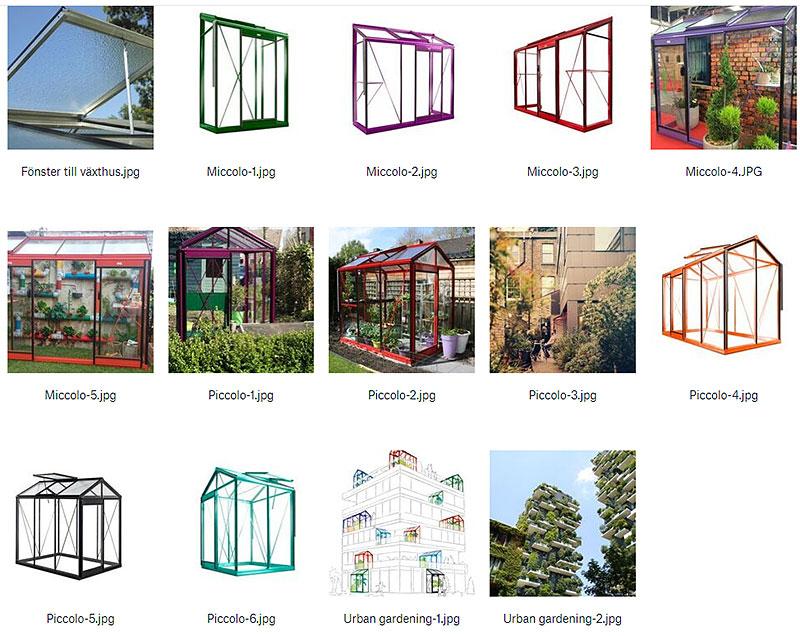 Högupplösta bilder Urban Garden växthus