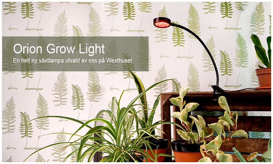 NYHET! Växtlampa med justerbar arm och 8 olika ljusspektra