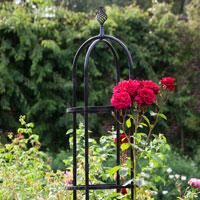 Växtstöd Obelisk Elegance svart, mellan-Växtstöd i smide Obelisk Elegance Svart 150 cm