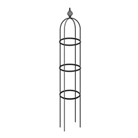 Växtstöd Obelisk Elegance svart, mellan, Smidesstöd för klätterväxter Obelisk Elegance svart