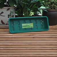 Smalt odlingstråg, grön-Odlingstråg för fönsterbrädan med dränering