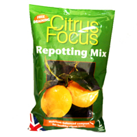Citrus Focus - citrusjord, 2 liter, Citrus Focus Repotting Mix - specialjord för citrusträd
