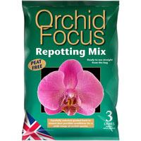 Orchid Focus Medium - orkidéjord, 3L-Orkidejord med kokosfiber och komposterad bark