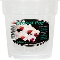 Orkidékruka - Orchid Pot 12 cm-Genomskinlig orkidekruka för orkideer