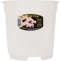 Orkidékruka - Orchid Pot 19 cm-Genomskinlig orkidekruka för orkideer