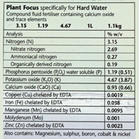 Plant Focus Hard Water, 1 liter,