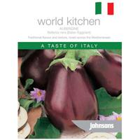 Äggplanta, AUBERGINE Italian Eggplant Bellezza nera-Frö till Äggplanta