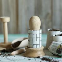 Pat-a-pot set för krukmakare, kit med krukmakare för papper och prickelpinne mm.