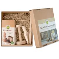 Pat-a-pot set för krukmakare-Planteringsset med krukmakare för papperskrukor