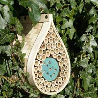 Insektshotell, Dewdrop Bee & Bug Hotel-Insektshotell i trä