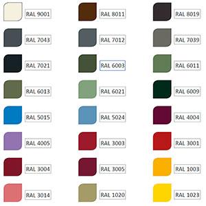 Färgtillägg Piccolo 2-Alternativt färgval för lackering av växthus