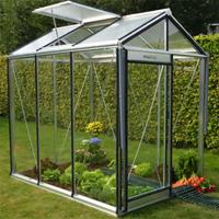 Prestige Piccolo-Hobbyväxthus i glas Piccolo aluminium