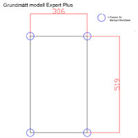 Grundritning för växthus modell Expert Plus 15,9