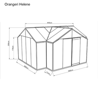 Mått Orangeri med säkerhetsglas med aluminiumprofiler