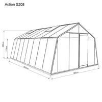Måttskiss Glasväxthus Prestige action 22,5kvm