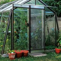 Nätdörr, aluminium-Nätdörr för ventilation av växthuset, olackad aluminium