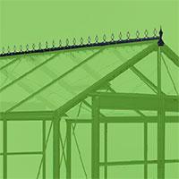 Dekor till tak på växthus modell Piccolo 2