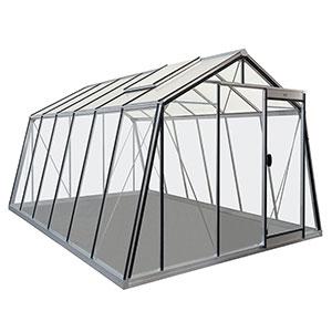 Växthus Action i glas och aluminium storlek 13,6 kvm