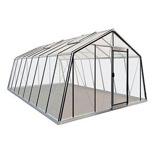 Växthus Action i glas och aluminium storlek 22,5 kvm