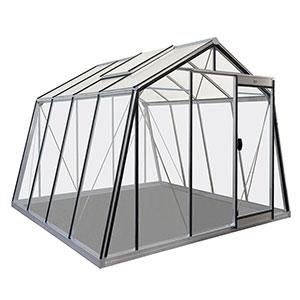 Växthus Action i glas och aluminium storlek 9,1 kvm