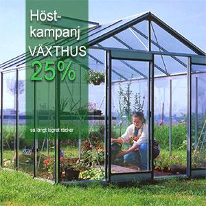 Prestige Expert Plus 11,4 kvm, alu-Växthus Expert Plus, höstkampanj