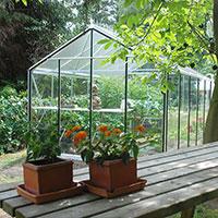 Växthus Expert Plus 15,9 kvm  i aluminium med takdekor
