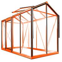 Prestige Piccolo 4, lackat-Växthus modell Piccolo 4 pulverlackat i färg orange