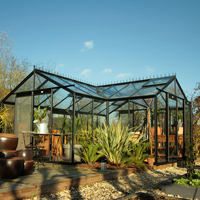 Orangeri Sophie 22,6 kvm-Orangeri Helene, ett växthus för odling och avkoppling