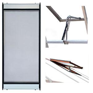 Ventilationspaket, lackat-Ventilationspaket till växthus nätdörr, fönsteröppnare och extra fönster