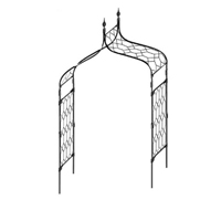 Växtportal Gothic Classic Extra, 210, Stöd för klängväxter portal Gothic Classic extra 210 cm