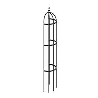 Växtstöd Obelisk för väggmontering, Obelisk stöd för klätterväxter med väggmontering