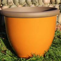 Belair Planter, Amber 51 cm-Belair Planter Amber 51cm lättvikskruka i fiberclay