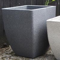 Soho Square Planter, Old Stone 35 cm-Lättviktskruka Soho Square Planter i fiberclay Old Stone, 35 cm