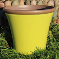 Davenport Planter, Apple Green 36 cm-Lättviktskruka fiberclay Davenport Planter Apple Green 36cm