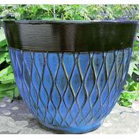 Matrix Planter, Blå-Lättviktskruka i fiberclay Matrix Planter Blå