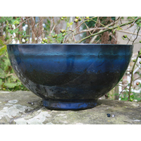 Aegean Bowl, Indigo-Lättviktskruka i fiberclay Aegean Bowl Indigo