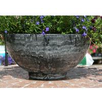 Aegean Bowl, Grey Marble-Lättviktskruka i fiberclay Aegean Bowl Grey Marble